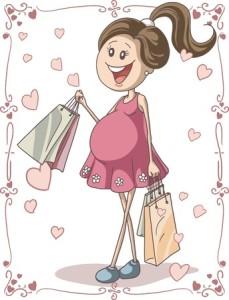 Embarazada de compras