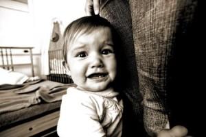 Bebé con miedo
