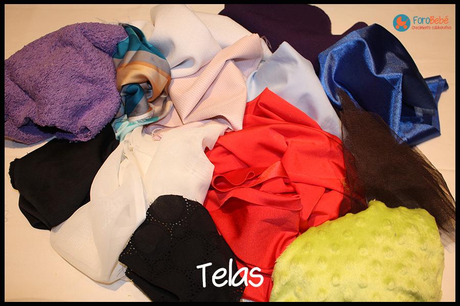 Telas de diferentes colores y texturas