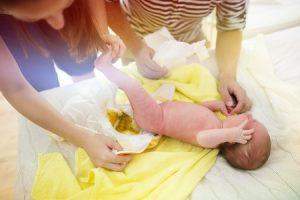 cambio pañal bebé