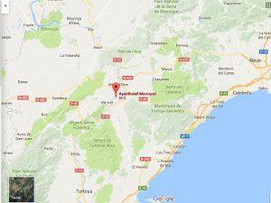 Mapa situación Aparthotel Monrural