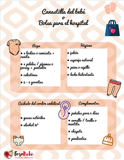 Cómo preparar la canastilla del bebé