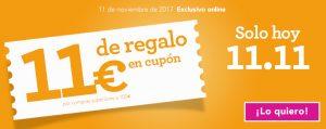 11 € de regalo en Toys'R'Us el 11/11